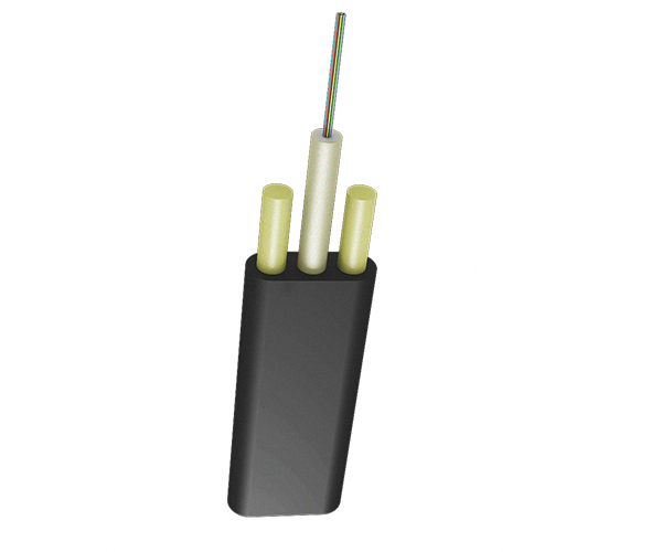 Оптический кабель ОК/Д2-Т-А4-1.2, подвесной плоский, диэлектрический, центральная трубка, 4 ОВ, 1,2 кН