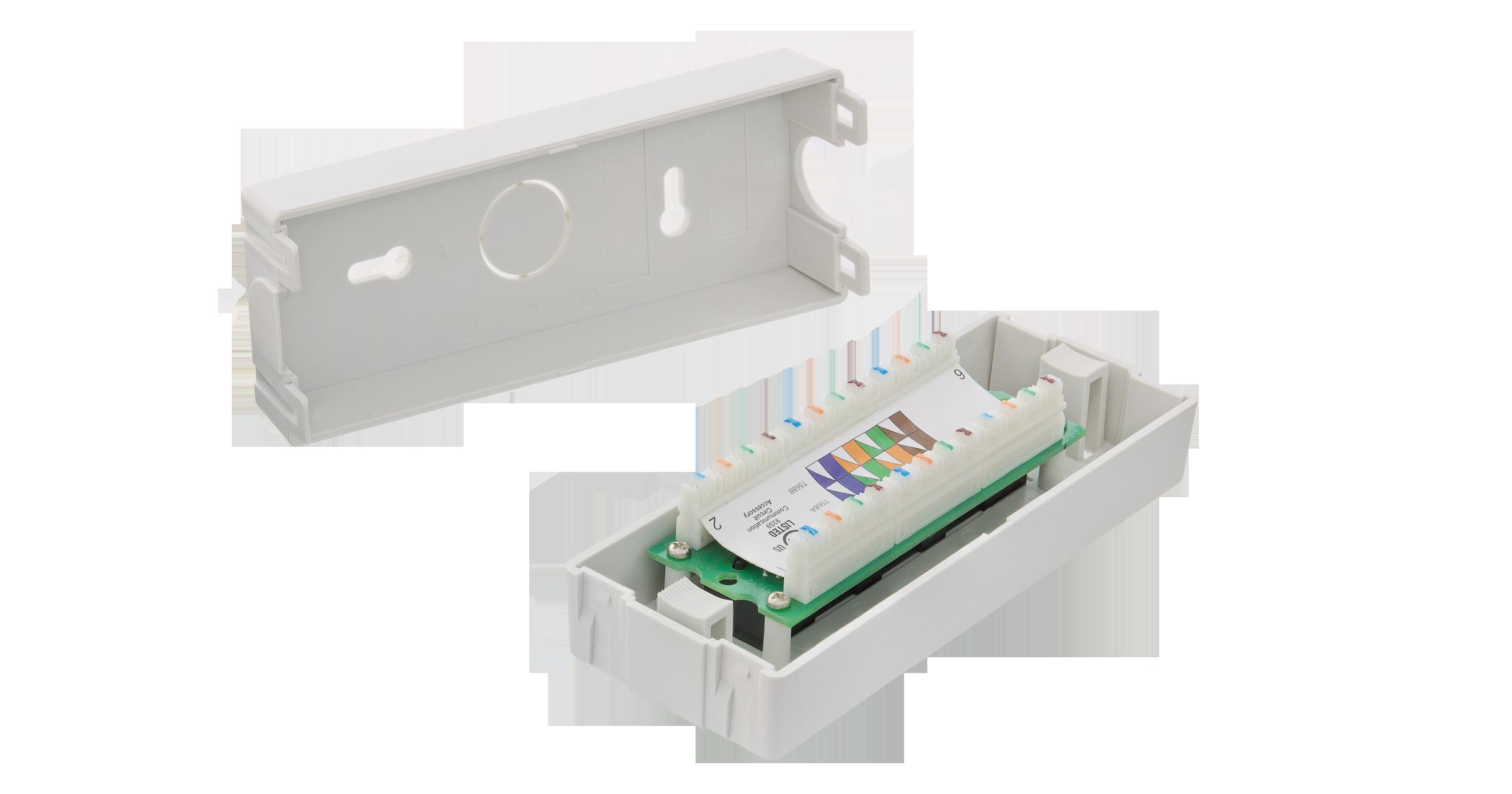 Коммутационная панель NIKOMAX настенная, 6 портов, Кат.6 (Класс E), 250МГц, RJ45/8P8C, 110, T568A/B, неэкранированная, светло-серая - гарантия: 5 лет расширенная / 25 лет системная