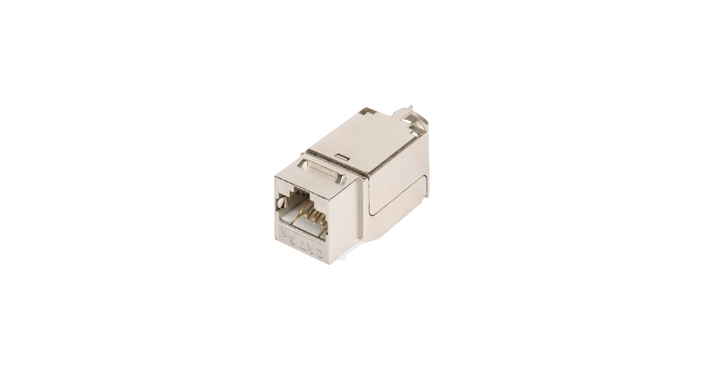 Модуль-вставка NIKOMAX типа Keystone, Кат.6a (Класс Ea), 500МГц, RJ45/8P8C, FT-TOOL/110/KRONE, T568A/B, полный экран, металлик - гарантия: 5 лет расширенная / 25 лет системная
