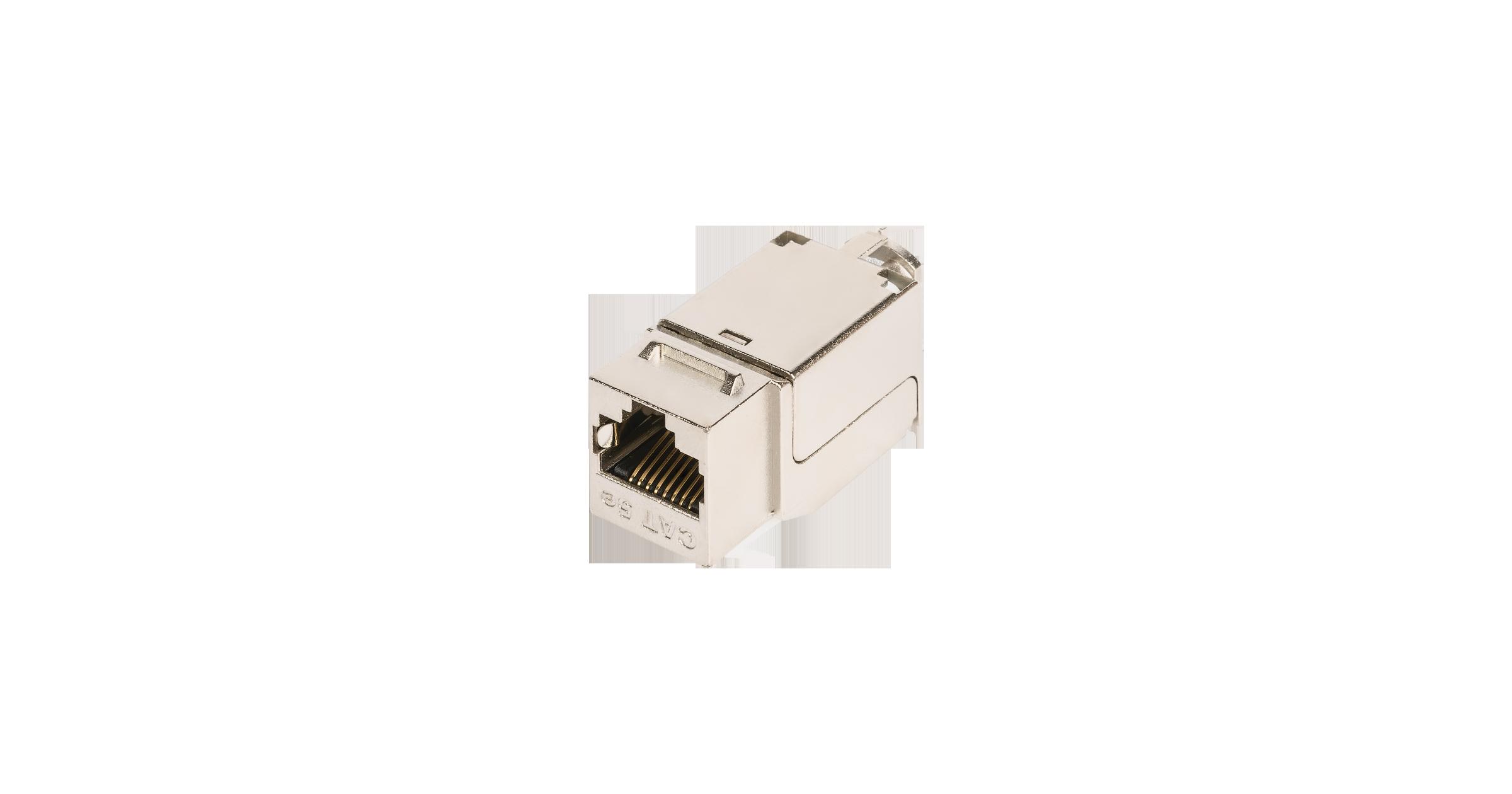 Модуль-вставка NIKOMAX типа Keystone, Кат.5е (Класс D), 100МГц, RJ45/8P8C, FT-TOOL/110/KRONE, T568A/B, полный экран, металлик - гарантия: 5 лет расширенная / 25 лет системная