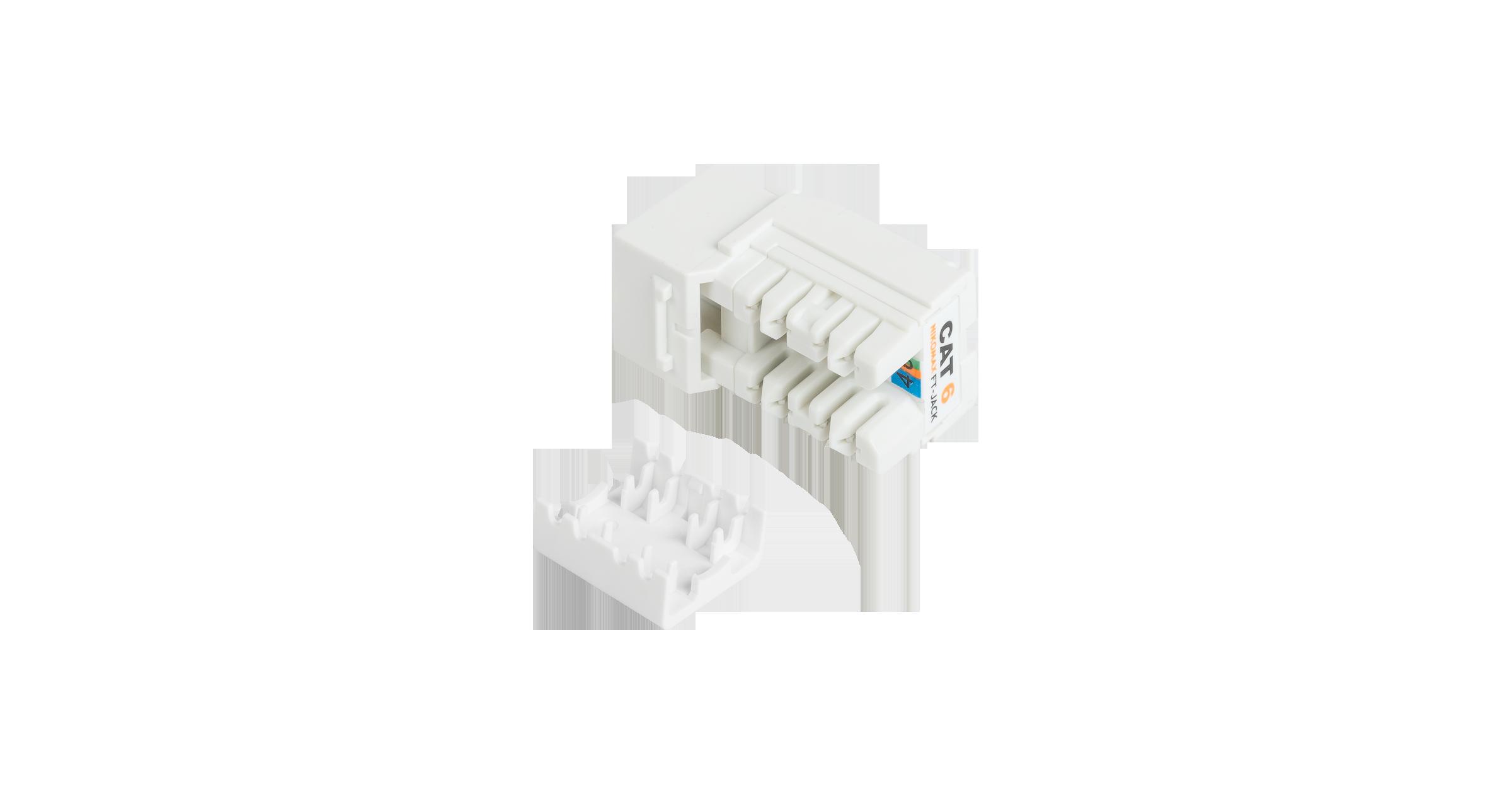 Модуль-вставка NIKOMAX типа Keystone, Кат.6 (Класс E), 250МГц, RJ45/8P8C, FT-TOOL/110/KRONE, T568A/B, неэкранированный, белый - гарантия: 5 лет расширенная / 25 лет системная