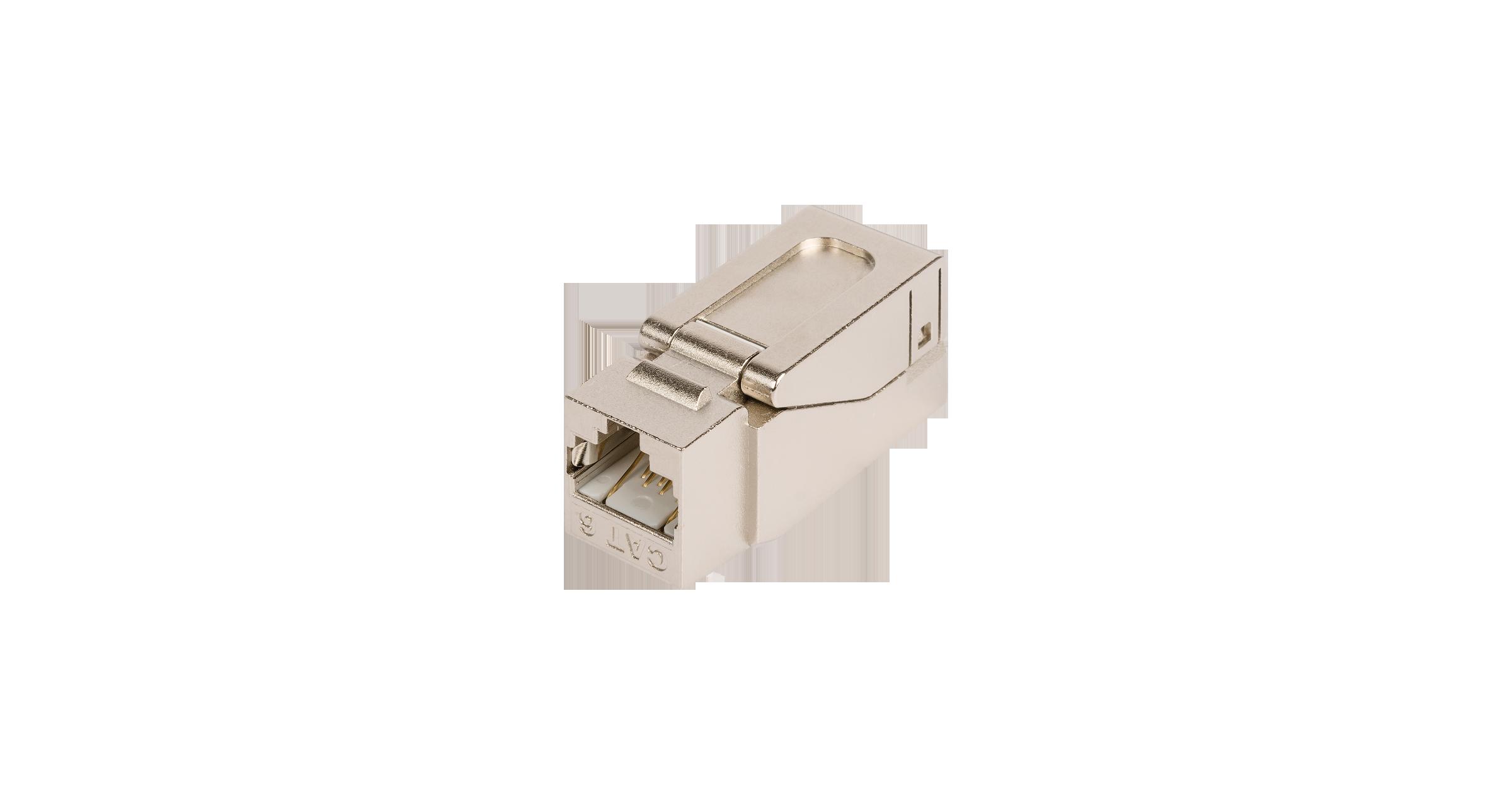 Модуль-вставка NIKOMAX типа Keystone, Кат.6 (Класс E), 250МГц, RJ45/8P8C, самозажимной, T568A/B, полный экран, металлик - гарантия: 5 лет расширенная / 25 лет системная