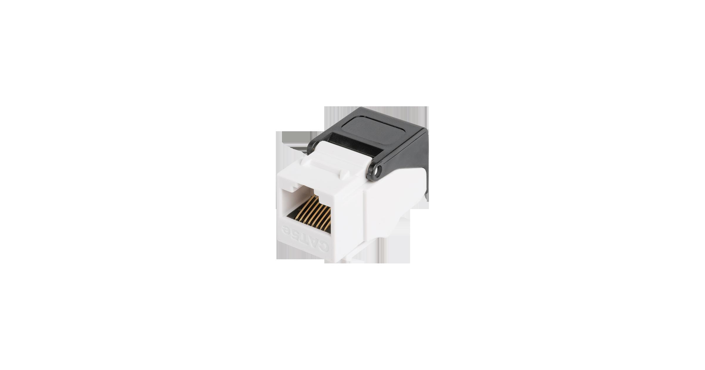 Модуль-вставка NIKOMAX типа Keystone, Кат.5е (Класс D), 100МГц, RJ45/8P8C, самозажимной, T568A/B, неэкранированный, белый - гарантия: 5 лет расширенная / 25 лет системная
