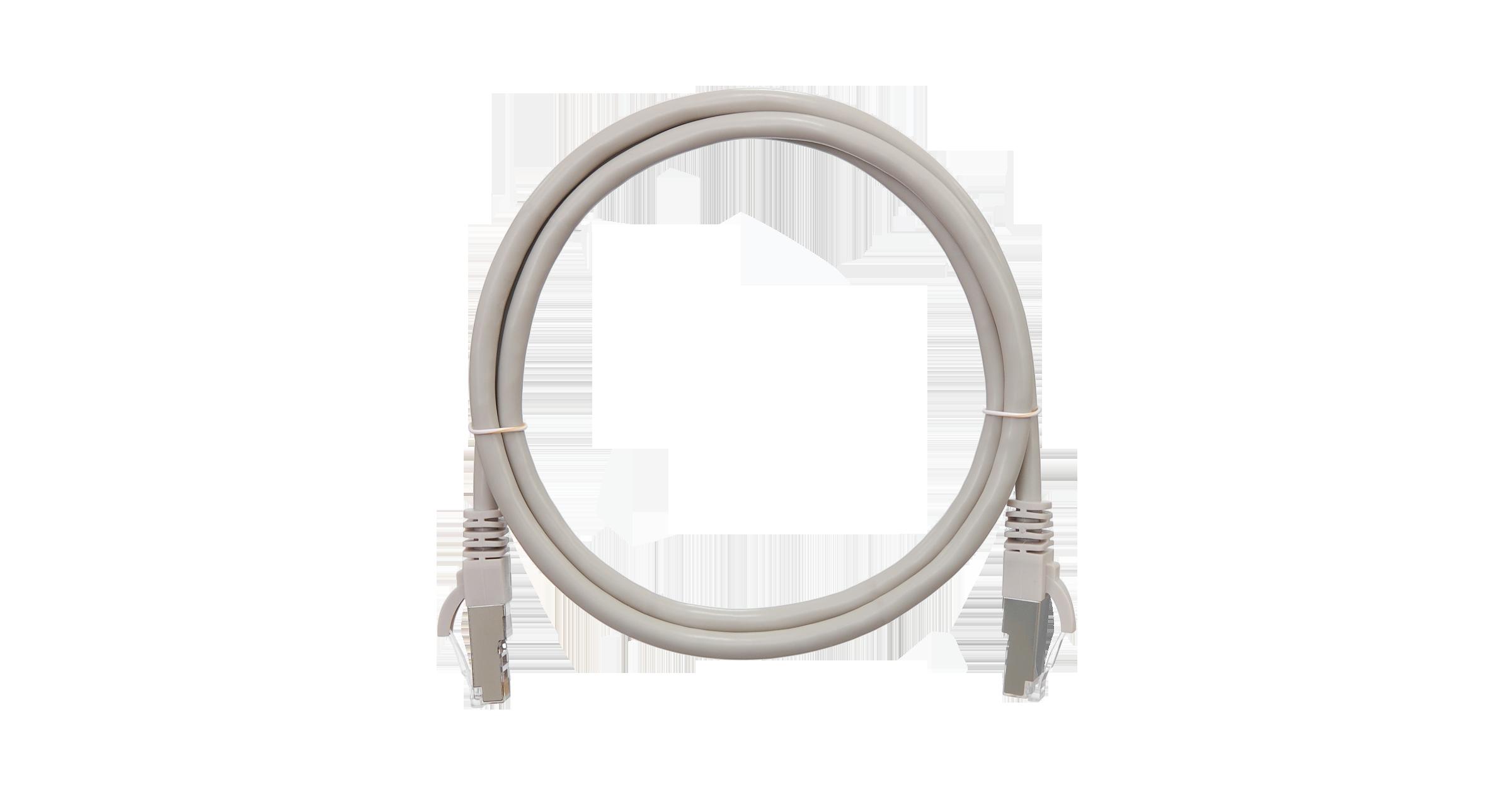 Коммутационный шнур NIKOMAX F/UTP 4 пары, Кат.5е (Класс D), 100МГц, 2хRJ45/8P8C, T568B, заливной, с защитой защелки, многожильный, BC (чистая медь), 26AWG (7х0,165мм), PVC нг(А), серый, 1,5м