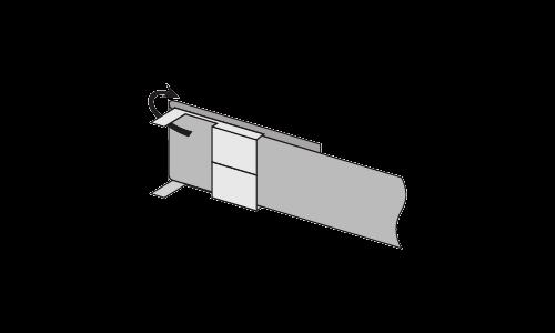 Скрепа HC–20–L (C202, без зубьев, упаковка 100 шт)