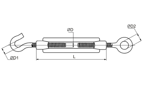Талреп крюк - кольцо DIN1480 М10