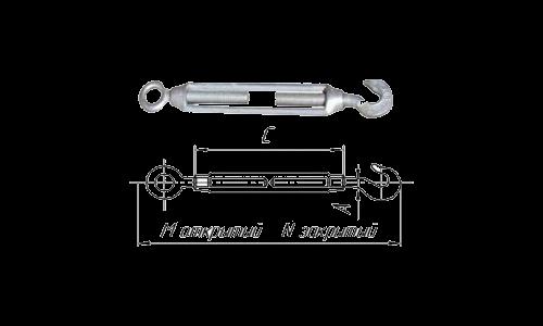 Талреп крюк - кольцо DIN1480 М12