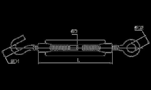 Талреп крюк - кольцо DIN1480 М14