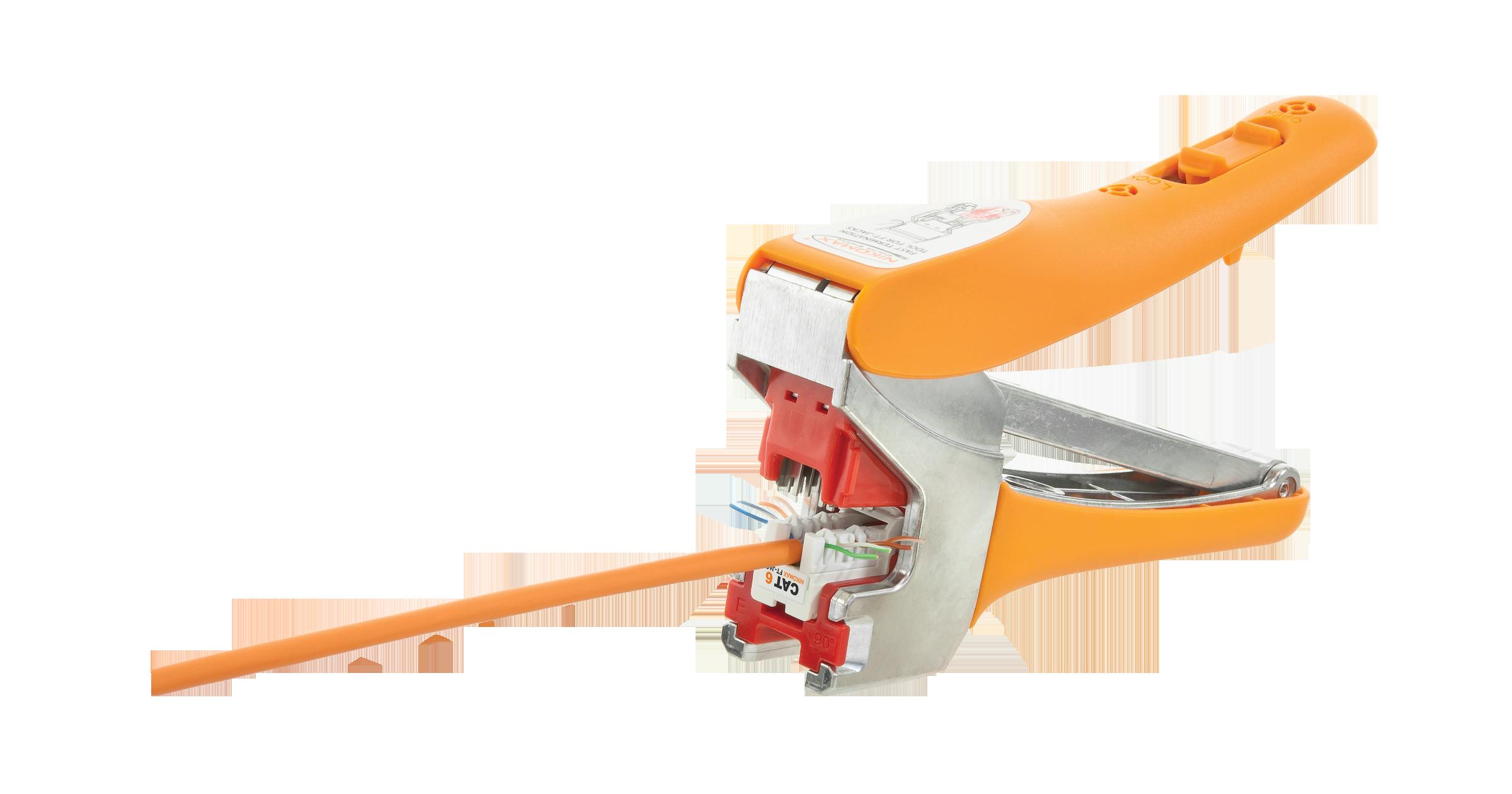 Инструмент NIKOMAX для быстрой заделки коммутационных модулей-вставок типа Keystone системы Fast Termination, серий: FT, AN, LS, 2 насадки в комплекте