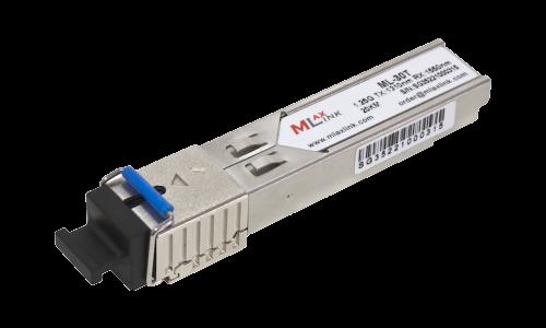 Модуль MlaxLink оптический одноволоконный SFP WDM, 1.25Гб/с, 20км, 1310/1550нм, SC