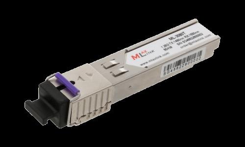 Модуль MlaxLink оптический одноволоконный SFP WDM, 1.25Гб/с, 80км, 1490/1550нм, SC, DDM