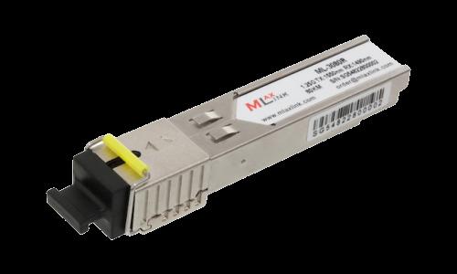 Модуль MlaxLink оптический одноволоконный SFP WDM, 1.25Гб/с, 80км, 1550/1490нм, SC, DDM