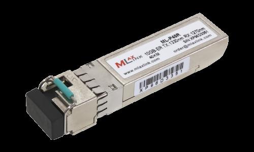 Модуль MlaxLink оптический одноволоконный SFP+ WDM, 10Гбит/с, 40км, 1330/1270нм, LC