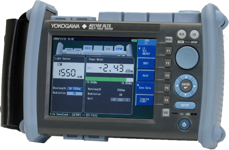 Мультитестер оптический Yokogawa AQ1100A (SM, 1310/1550 нм, PPM, адаптеры FC)