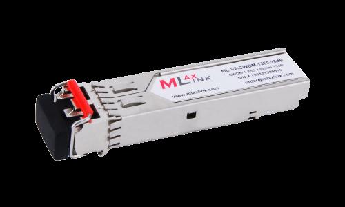 Модуль MlaxLink оптический двухволоконный SFP CWDM, 1.25Гбит/c, 1350нм, 15dB,  2xLC