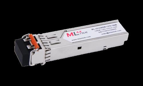 Модуль MlaxLink оптический двухволоконный SFP CWDM, 1.25Гбит/c, 1370нм, 15dB,  2xLC