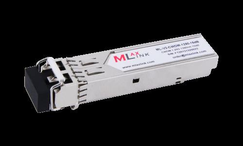 Модуль MlaxLink оптический двухволоконный SFP CWDM, 1.25Гбит/c, 1390нм, 15dB,  2xLC
