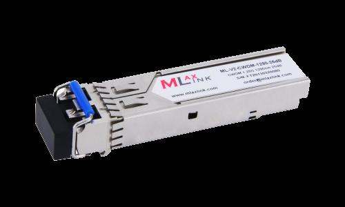 Модуль MlaxLink оптический двухволоконный SFP CWDM, 1.25Гбит/c, 1290нм, 25dB,  2xLC