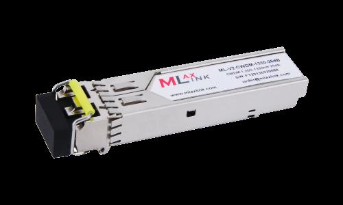 Модуль MlaxLink оптический двухволоконный SFP CWDM, 1.25Гбит/c, 1330нм, 25dB,  2xLC