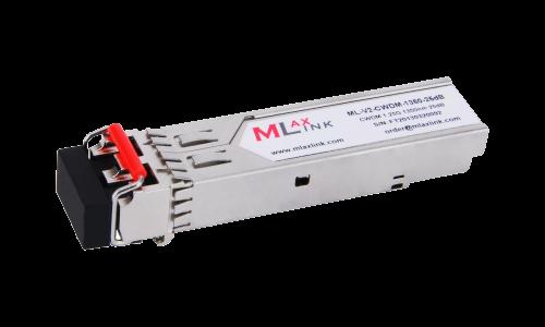 Модуль MlaxLink оптический двухволоконный SFP CWDM, 1.25Гбит/c, 1350нм, 25dB,  2xLC