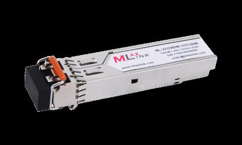 Модуль MlaxLink оптический двухволоконный SFP CWDM, 1.25Гбит/c, 1370нм, 25dB,  2xLC