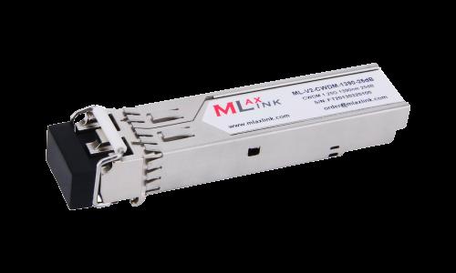 Модуль MlaxLink оптический двухволоконный SFP CWDM, 1.25Гбит/c, 1390нм, 25dB,  2xLC