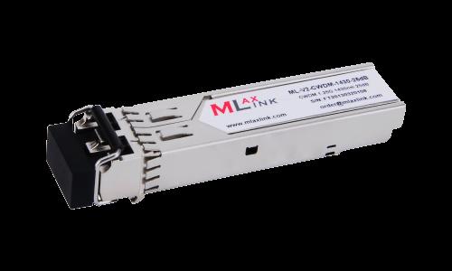 Модуль MlaxLink оптический двухволоконный SFP CWDM, 1.25Гбит/c, 1430нм, 25dB,  2xLC