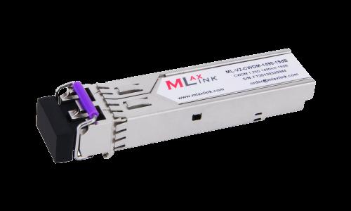 Модуль MlaxLink оптический двухволоконный SFP CWDM, 1.25Гбит/c, 1490нм, 25dB,  2xLC
