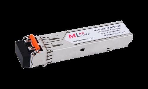 Модуль MlaxLink оптический двухволоконный SFP CWDM, 1.25Гбит/c, 1570нм, 25dB,  2xLC