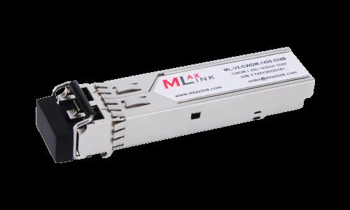 Модуль MlaxLink оптический двухволоконный SFP CWDM, 1.25Гбит/c, 1430нм, 32dB,  2xLC