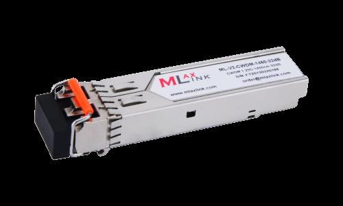Модуль MlaxLink оптический двухволоконный SFP CWDM, 1.25Гбит/c, 1450нм, 32dB,  2xLC