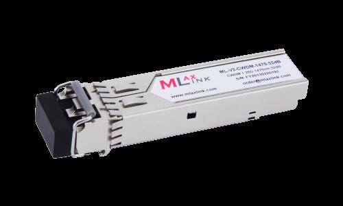 Модуль MlaxLink оптический двухволоконный SFP CWDM, 1.25Гбит/c, 1470нм, 32dB,  2xLC