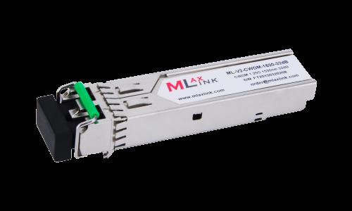 Модуль MlaxLink оптический двухволоконный SFP CWDM, 1.25Гбит/c, 1530нм, 32dB,  2xLC