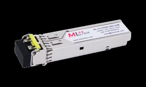 Модуль MlaxLink оптический двухволоконный SFP CWDM, 1.25Гбит/c, 1550нм, 32dB,  2xLC