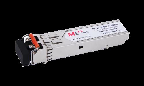 Модуль MlaxLink оптический двухволоконный SFP CWDM, 1.25Гбит/c, 1610нм, 32dB,  2xLC