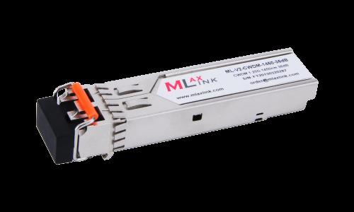 Модуль MlaxLink оптический двухволоконный SFP CWDM, 1.25Гбит/c, 1450нм, 36dB,  2xLC