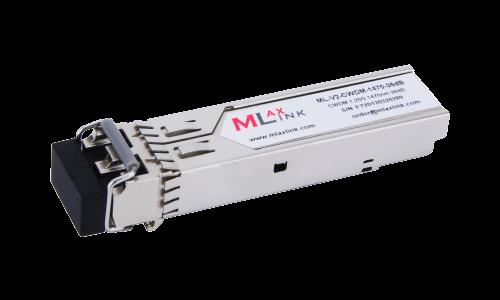 Модуль MlaxLink оптический двухволоконный SFP CWDM, 1.25Гбит/c, 1470нм, 36dB,  2xLC