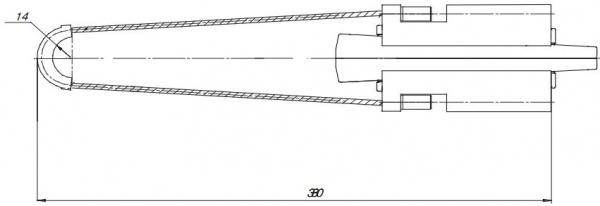 Зажим натяжной клиновой PA-1000.1