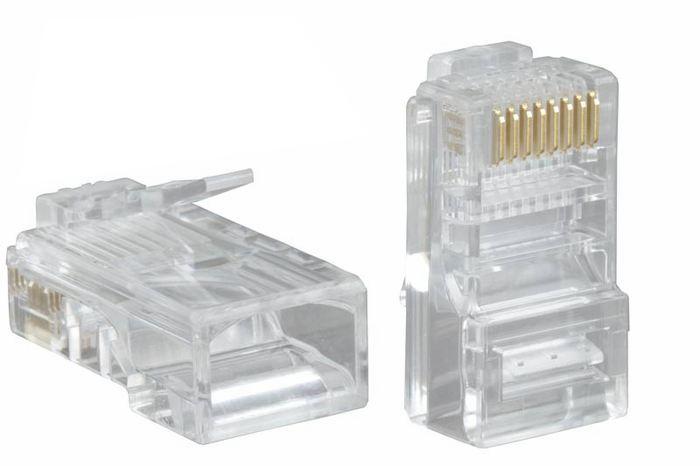 Коннектор RJ-45  UTP кабель, Категория 5e (упаковка 100шт)