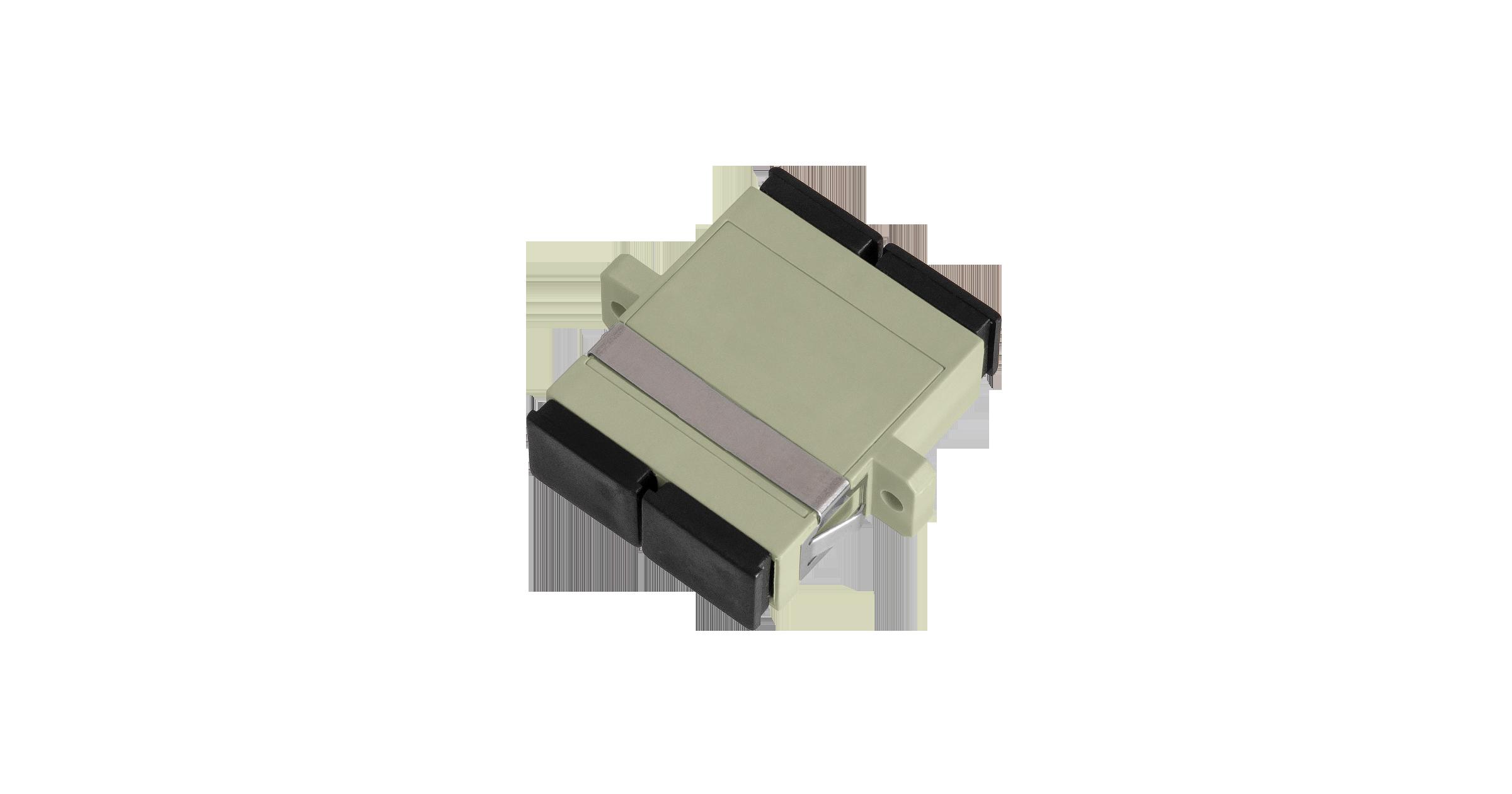 Адаптер NIKOMAX волоконно-оптический, соединительный, многомодовый, SC/UPC-SC/UPC, двойной, пластиковый, бежевый, уп-ка 2шт.