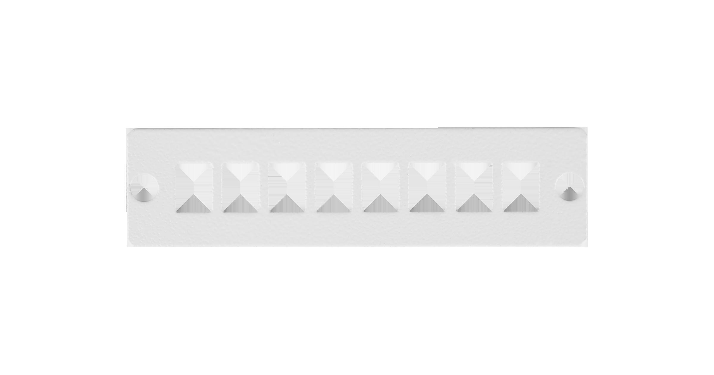 Адаптерная панель NIKOMAX, до 8 одинарных адаптеров SC / двойных адаптеров LC, стальная, серая
