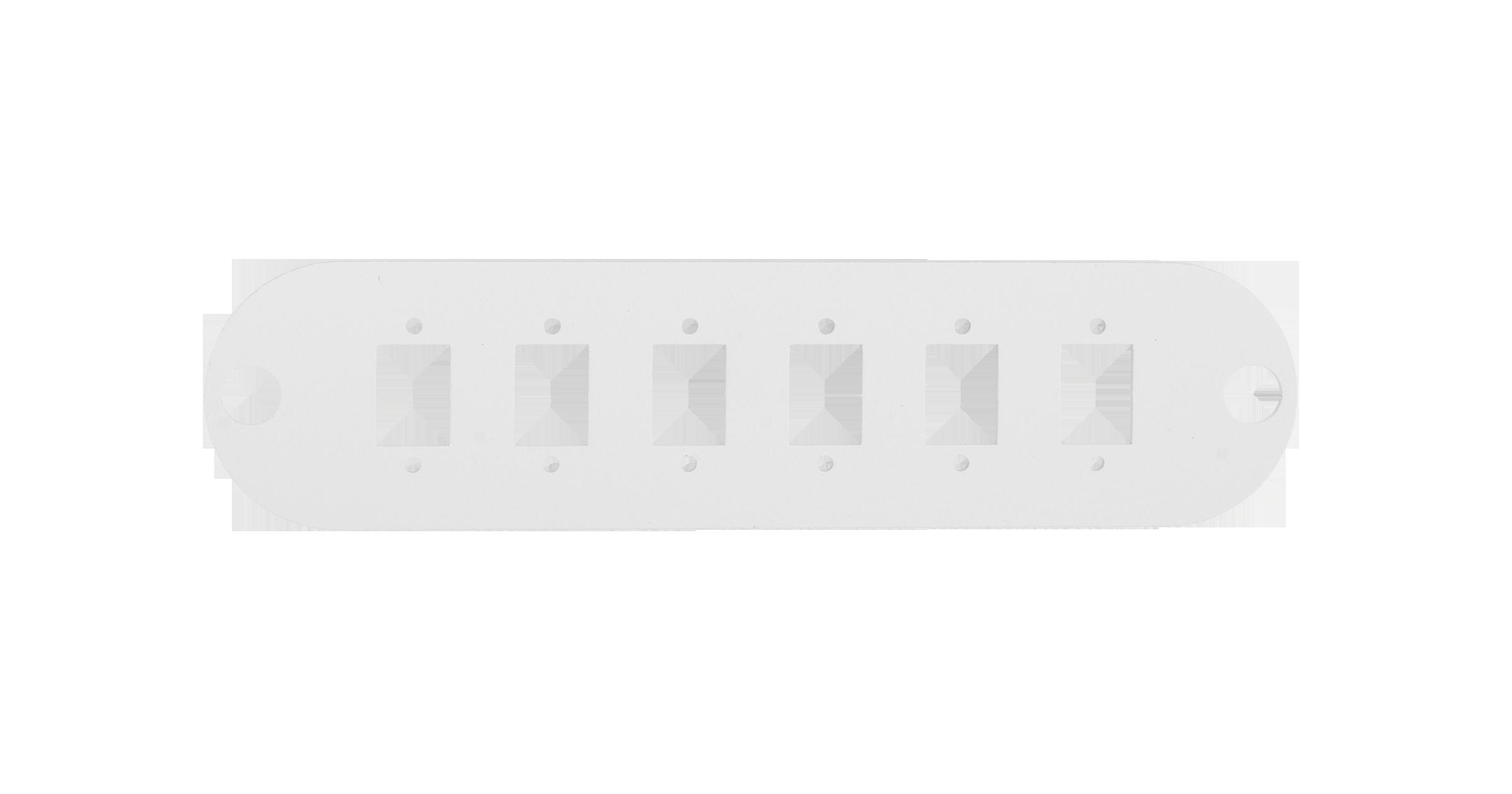 Адаптерная панель NIKOMAX TFI, до 6 одинарных адаптеров SC / двойных адаптеров LC, стальная, серая
