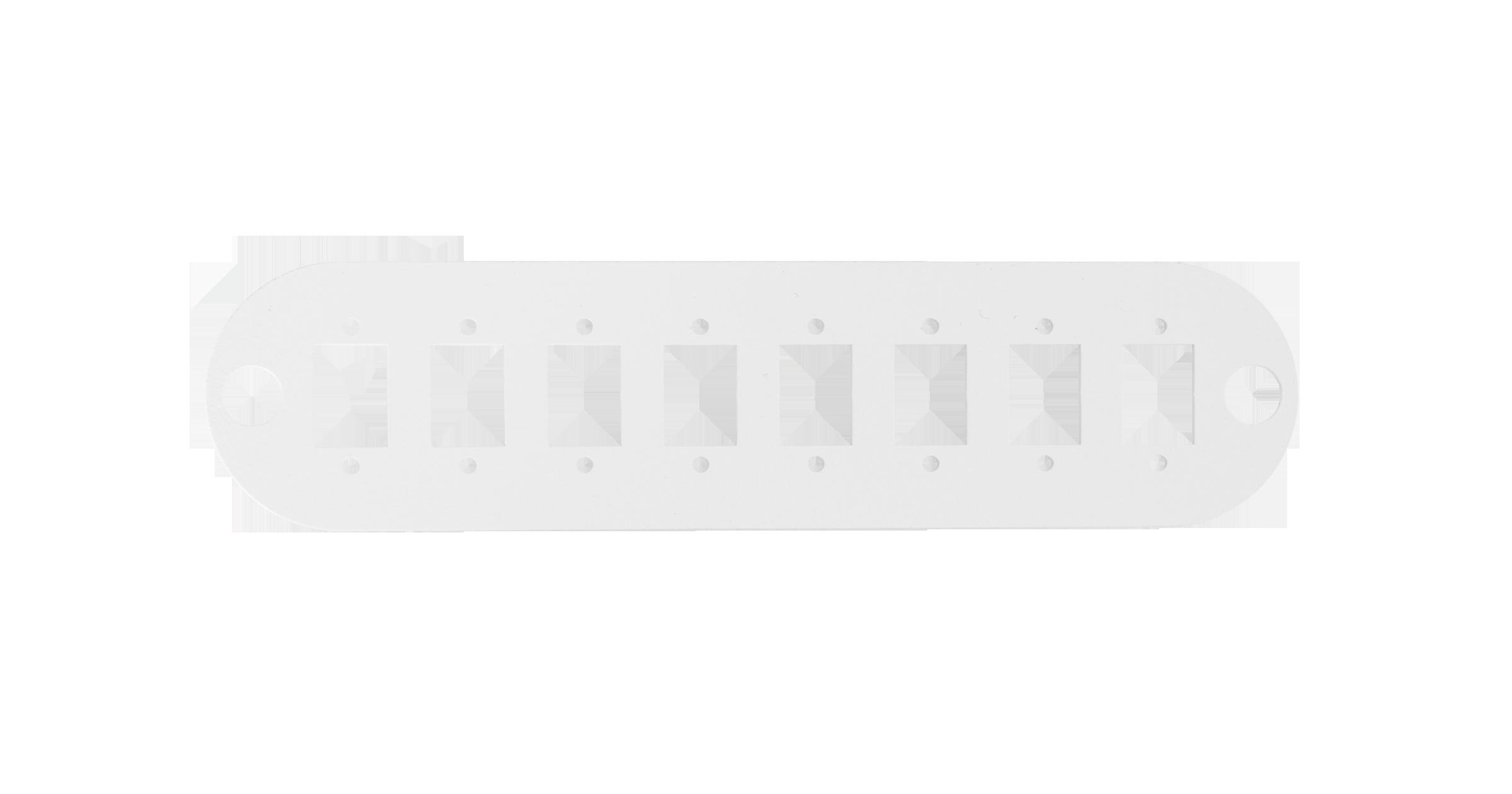 Адаптерная панель NIKOMAX TFI, до 8 одинарных адаптеров SC / двойных адаптеров LC, стальная, серая