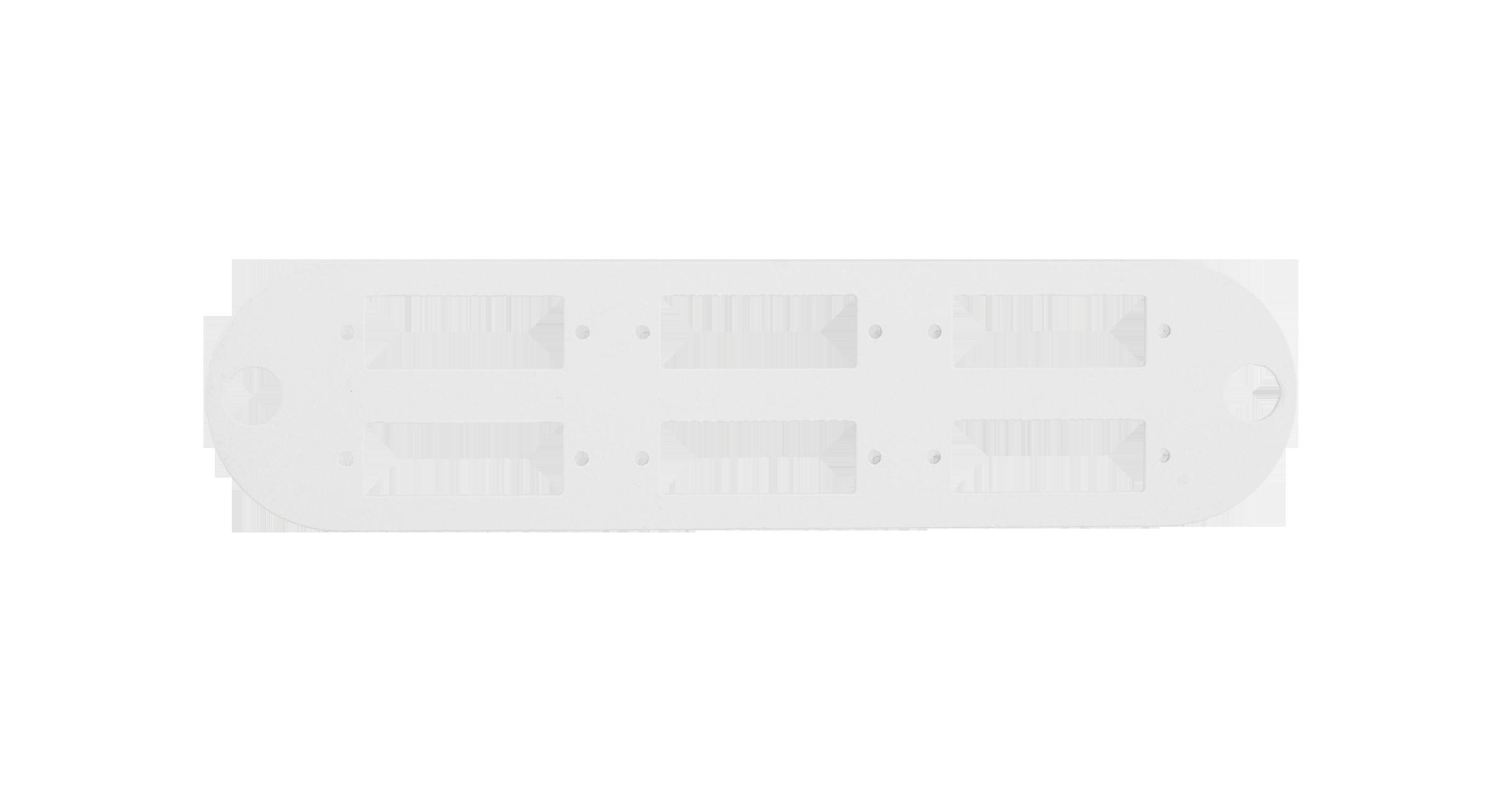 Адаптерная панель NIKOMAX TFI, до 6 двойных адаптеров SC, стальная, серая