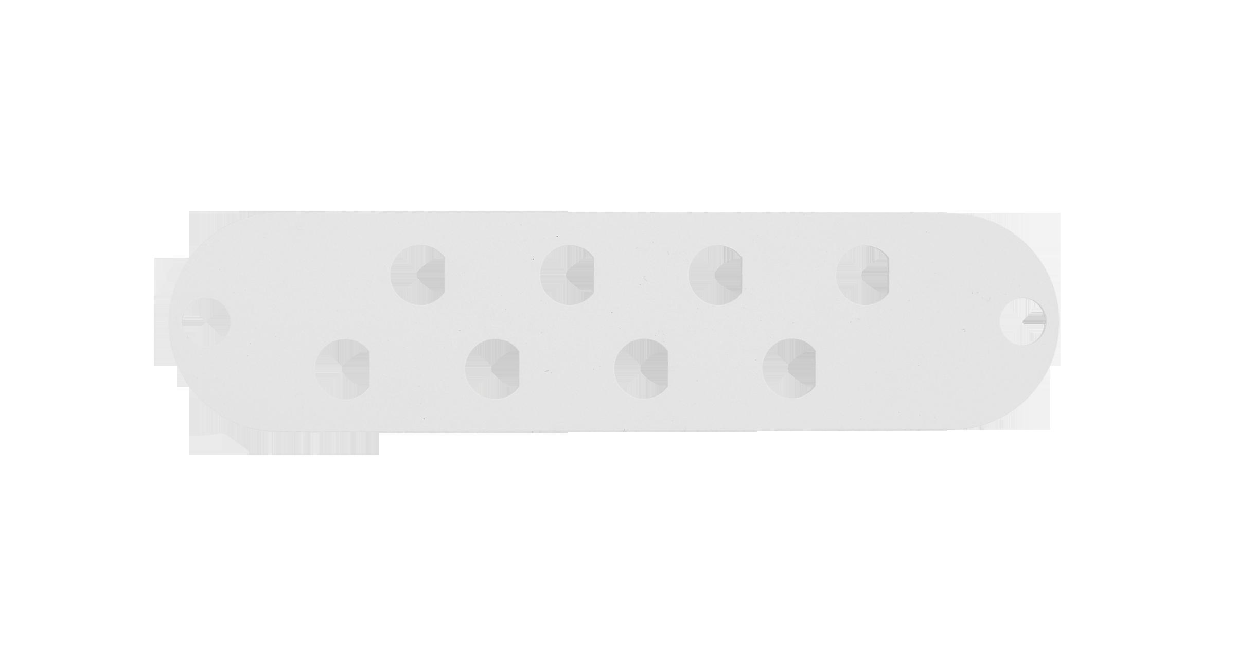 Адаптерная панель NIKOMAX TFI, до 8 одинарных адаптеров FC / одинарных адаптеров ST, стальная, серая