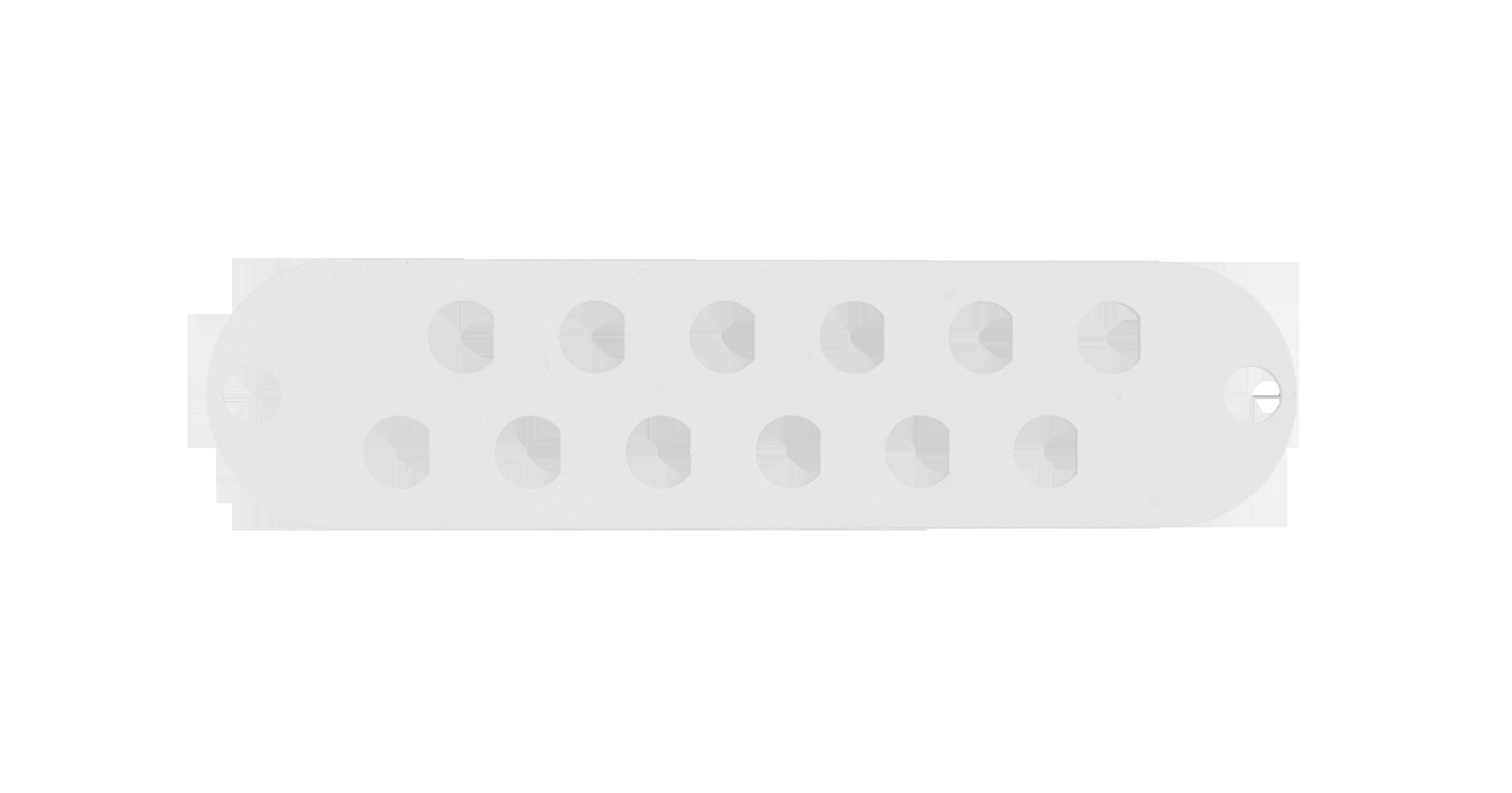 Адаптерная панель NIKOMAX TFI, до 12 одинарных адаптеров FC / одинарных адаптеров ST, стальная, серая