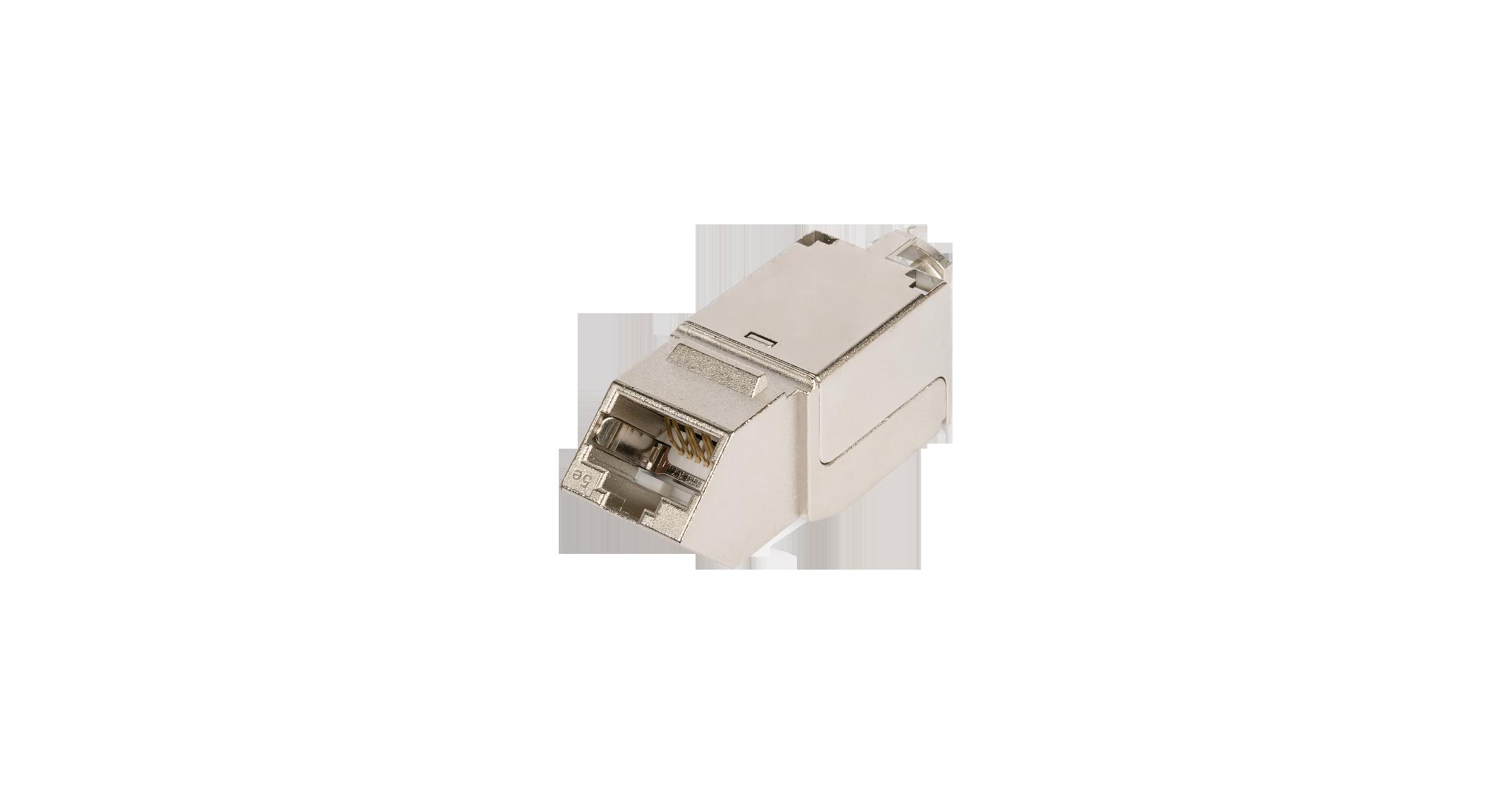 Модуль-вставка NIKOMAX типа Keystone, угловой, для панели серии AN, Кат.5е (Класс D), 100МГц, RJ45/8P8C, FT-TOOL/110/KRONE, T568A/B, полный экран, металлик - гарантия: 5 лет расширенная / 25 лет системная