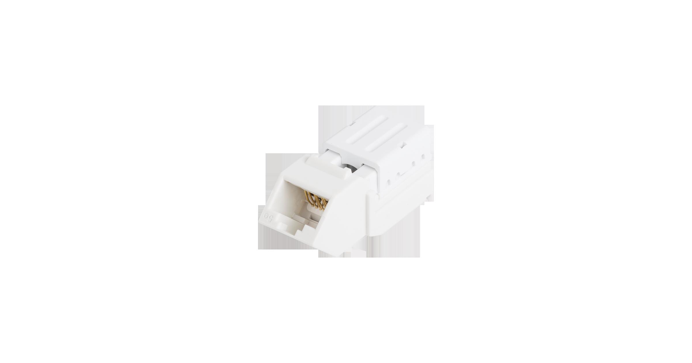 Модуль-вставка NIKOMAX типа Keystone, угловой, для панели серии AN, Кат.5е (Класс D), 100МГц, RJ45/8P8C, FT-TOOL/110/KRONE, T568A/B, неэкранированный, белый - гарантия: 5 лет расширенная / 25 лет системная