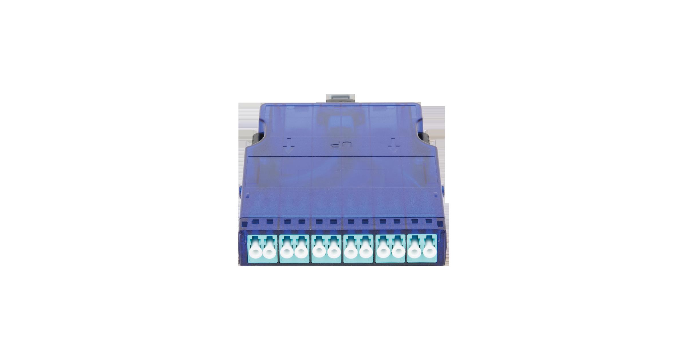 Кассета NIKOMAX волоконно-оптическая, для панели серии CJ, 1 слот, многомодовая 50/125 мкм, стандарта OM3, 1x MTP/male - 12x LC/UPC, поляризация А, премиум
