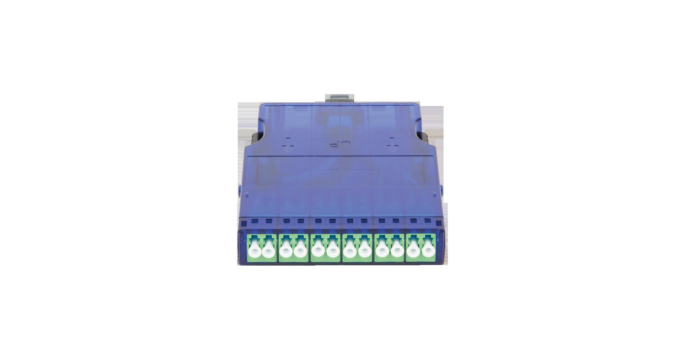 Кассета NIKOMAX волоконно-оптическая, для панели серии CJ, 1 слот, одномодовая 9/125 мкм, стандарта OS2, 1x MTP/male - 12x LC/APC, поляризация А, премиум